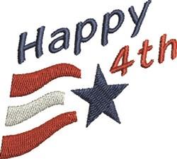 Happy 4th embroidery design