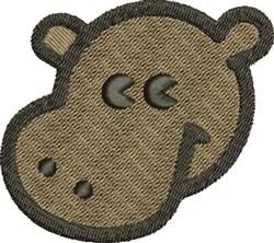 Hippo Head embroidery design