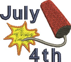 July 4th Cracker embroidery design
