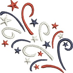July Fourth embroidery design