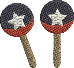 Two Maracas embroidery design