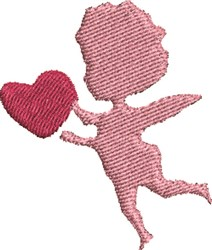 Cupid Silhouete embroidery design