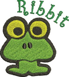 Ribbit Frog embroidery design