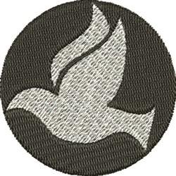 Round Dove embroidery design