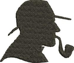 Sherlock Silhouette embroidery design