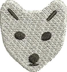 Snow Fox embroidery design