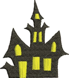 Spooky House embroidery design