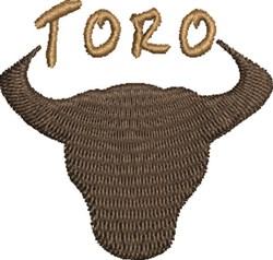 Toro Head embroidery design