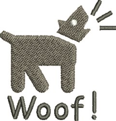 Dog Woof embroidery design