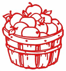 Bucket Of Apples embroidery design