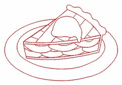 Apple Pie Outline embroidery design