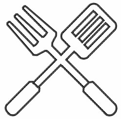 Barbecue Tools embroidery design