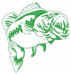 Largemouth Bass Outline embroidery design