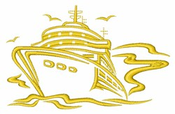 Ship Outline embroidery design