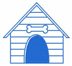 Doghouse Outline embroidery design