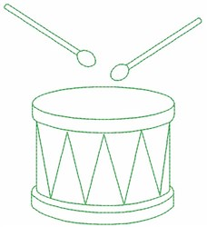Drum Outline embroidery design