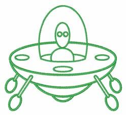 Alien Spaceship embroidery design