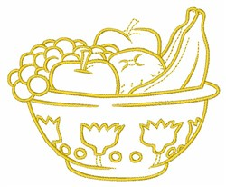 Bowl Of Fruit embroidery design