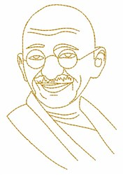 Gandhi embroidery design