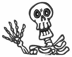 Skeleton Outline embroidery design