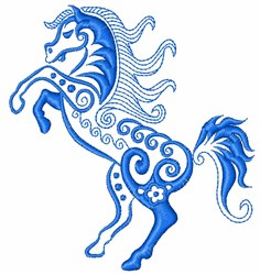 Swirly Horse embroidery design
