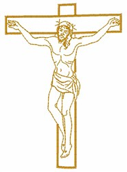 Jesus On Cross embroidery design