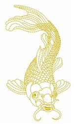 Koi Fish Outline embroidery design