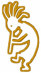 Kokopelli Outline embroidery design