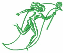 Female Lacrosse Player embroidery design