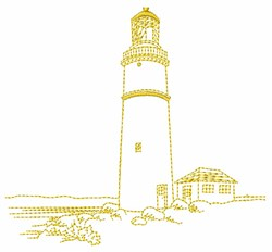 Lighthouse Outline embroidery design
