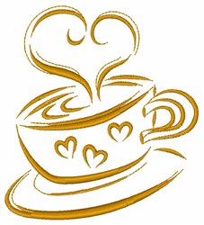 Love Hot Beverage embroidery design
