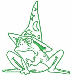 Wizard Frog embroidery design