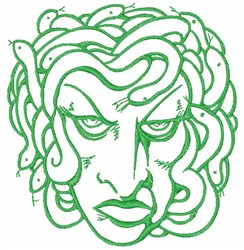 Medusa Head embroidery design