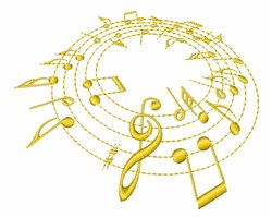 Musical Notations embroidery design