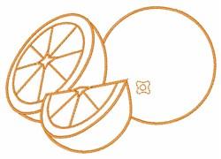 Orange Outline embroidery design