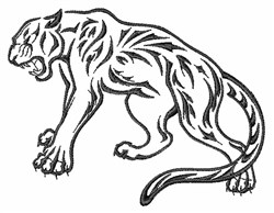 Tiger Outline embroidery design