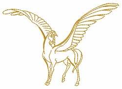 Pegasus Outline embroidery design
