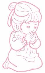 Sleeping Child embroidery design