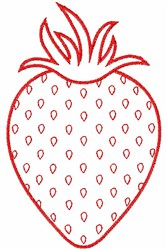 Strawberry Outline embroidery design