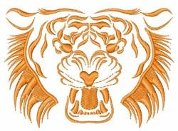 Roaring Tiger Head embroidery design