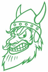 Viking Outline embroidery design