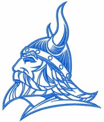 Viking Head Outline embroidery design