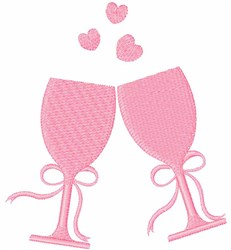Wine Glasses embroidery design