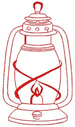 Hurricane Storm Lantern embroidery design