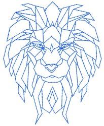 Geometric Lion embroidery design
