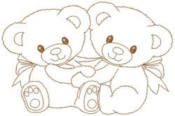 Teddy Bears embroidery design