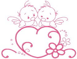 Love Birds embroidery design
