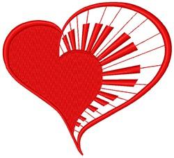 Keyboard Heart embroidery design
