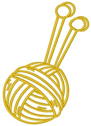 Knitting Needles and Yarn embroidery design