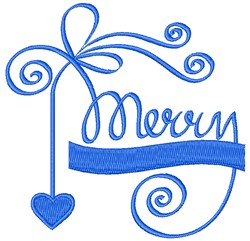 Merry embroidery design